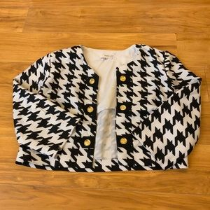 Houndstooth Shrug Jacket